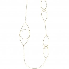 Necklace silver 925 yellow gold plated - Outopia