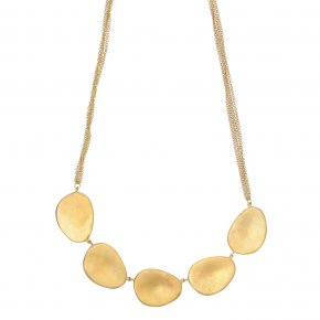 Necklace bronge yellow gold plated - Anemos