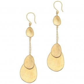 Earrings bronge yellow gold plated - Anemos