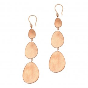 Earrings Bronge pink gold plated - Anemos