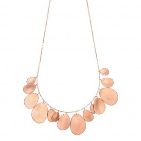 Necklace bronge pink gold plated - Anemos
