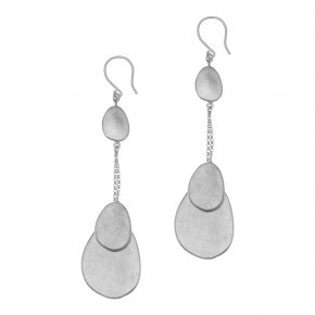 Earrings bronge rhodium plated - Anemos