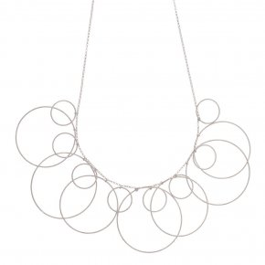 Necklace silver 925 rhodium plated ( big circle size 4 cm) - Outopia