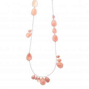 Necklace bronge pink gold plated - Funky Metal