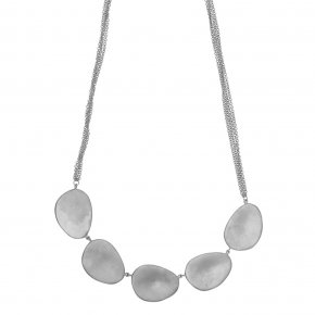 Necklace bronge rhodium plated - Anemos
