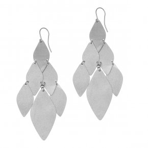 Earrings metal rhodium plated - Funky Metal