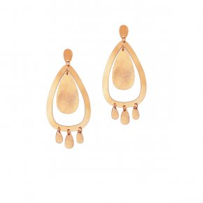 Earrings Bronge pink gold plated - Funky Metal
