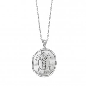 Necklace silver 925 rhodium plated - Chronos