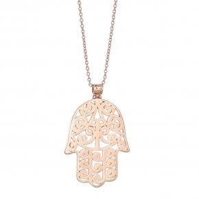 Necklace silver 925 rose gold plated - Chronos