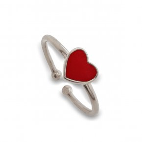 Ring silver 925 rhodium  plated with enamel - Simply Me