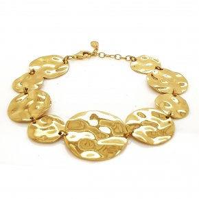 Bracelet silver 925 gold plated - Funky Metal