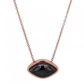 Necklace silver 925 pink gold plated with black rhodium plated - Funky Metal