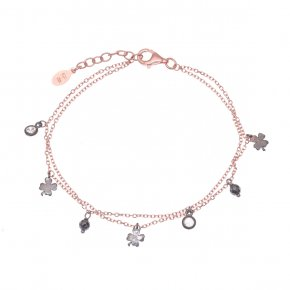 Bracelet silver 925  pink gold plated with black rhodium plated - Simply Me