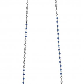 Necklace metal black rhodium plated with synthetic stones - Color Me