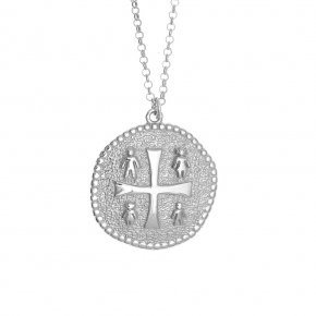 Necklace silver 925 white rhodium plated - Wish Luck