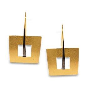 Earrings silver 925 Yellow Plated - Funky Metal