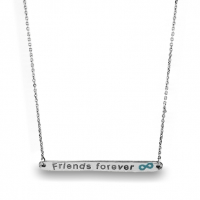 Necklace silver 925 rhodium plated with enamel - Wish Luck