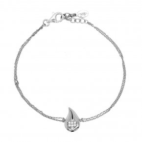 Bracelet silver 925 rhodium plated with white zirconia - WANNA GLOW