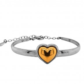 Bracelet silver 925 rhodium plated with yellow gold plated - Funky Metal