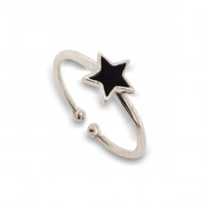 Ring silver 925 rodium plated with enamel - Simply Me