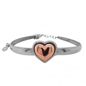 Bracelet silver 925 rhodium plated with pink gold plated - Funky Metal