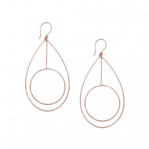 Earrings in silver 925 pink gold plated - Funky Metal