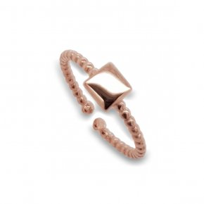 Ring silver 925 rose gold plated - Simply Me