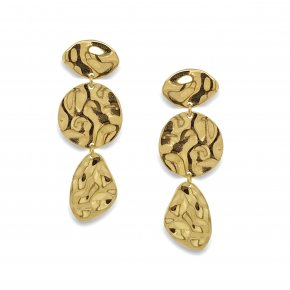 Earrings silver 925 gold plated (4.5cm) - Funky Metal