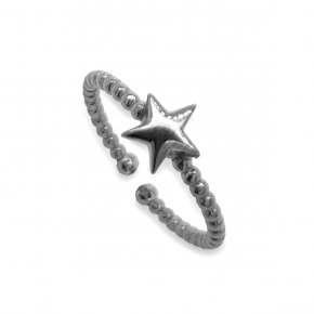 Ring silver 925 Black  rodium plated - Simply Me