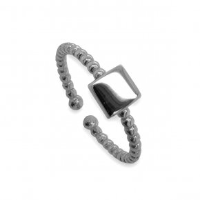 Ring silver 925 black rhodium plated - Simply Me