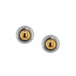 Earrings silver 925 rhodium plated with yellow gold plated - Funky Metal