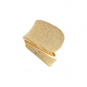 Ring Silver 925 gold plated - Funky Metal