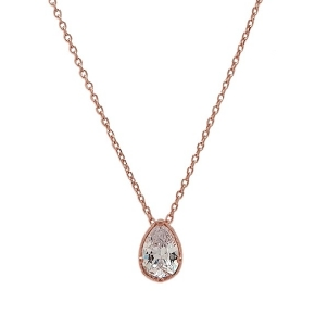 Necklace in silver 925 pink gold plated with crystals - Color Me
