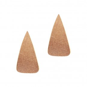 Earrings Silver 925 pink gold plated - Funky Metal