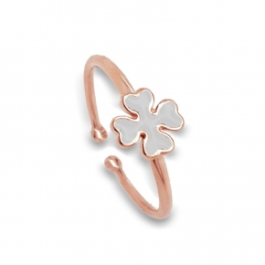 Ring silver 925 Pink  plated with enamel - Simply Me