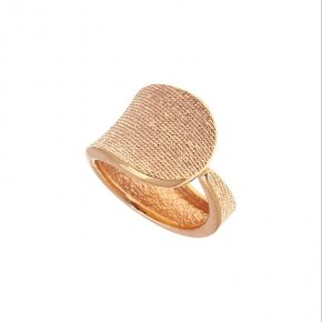 Ring Silver 925 pink gold plated - Funky Metal
