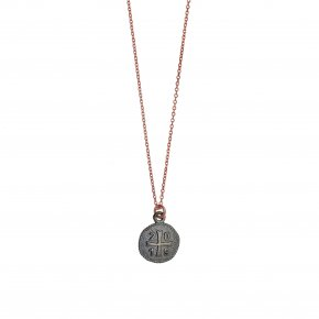 Necklace silver 925 pink gold plated with black rhodium plated - Wish Luck