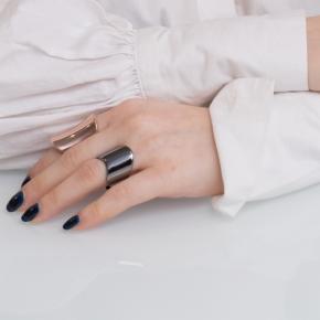 Ring Silver 925 black rodium - Funky Metal