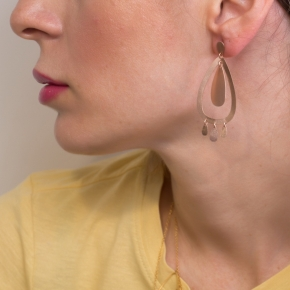 Earrings metal pink gold plated - Funky Metal