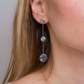 Earrings silver 925 rhodium plated (7cm) - Funky Metal