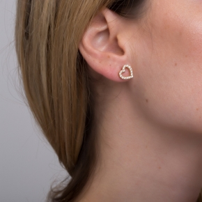 Earrings silver 925 gold plated with synthetic stones - Simply Me