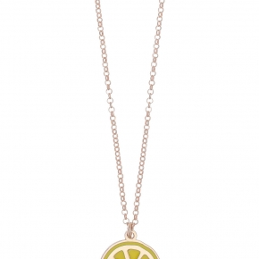 Necklace silver 925 rose gold plated with enamel - Color Me