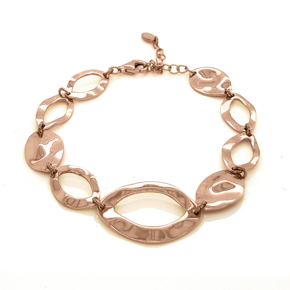 Bracelet silver 925 pink gold plated - Funky Metal