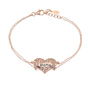 Bracelet silver 925 rose gold plated - Wish Luck