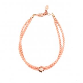 Bracelet silver 925 pink gold plated - Color Me