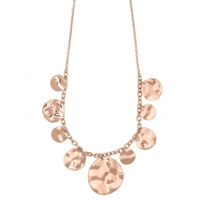 Necklace silver 925 pink gold plated - Funky Metal