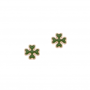 Earrings silver 925 pink gold plated with enamel - Color Me