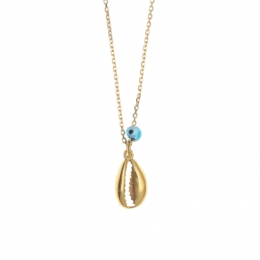 Necklace silver 925 yellow gold plated - Color Me