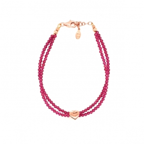 Bracelet silver 925 pink gold plated - Color Me