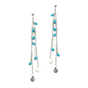Earrings bronge rhodium plated with synthetic stones - Simply Me
